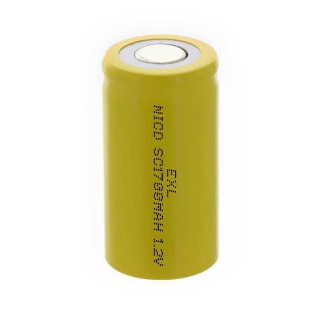 EJD-SC1700R nicd sc sub c rechargeable battery 1.2v 1700mah high drain cell