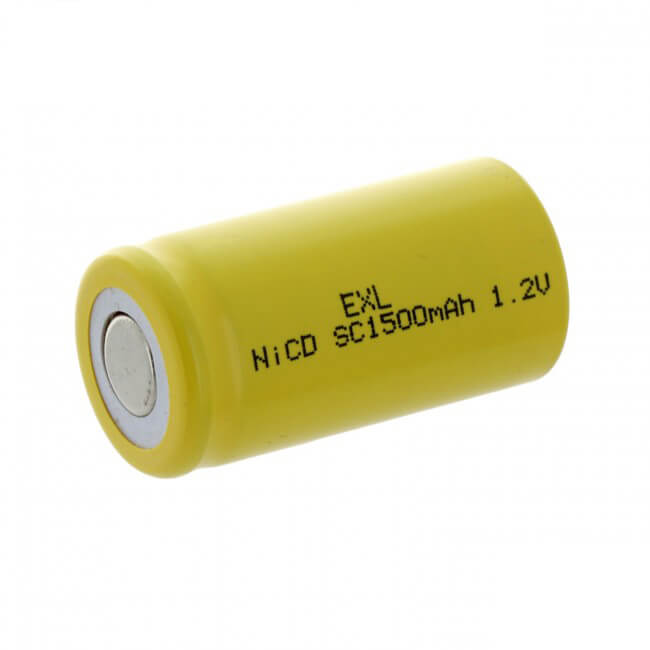 SubC 1.2V 1500mAh NiCD Rechargeable Flat Top Battery (1)