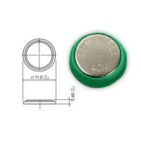 1.2v 40mah 40H nimh button cell rechargeable battery for Gamepad