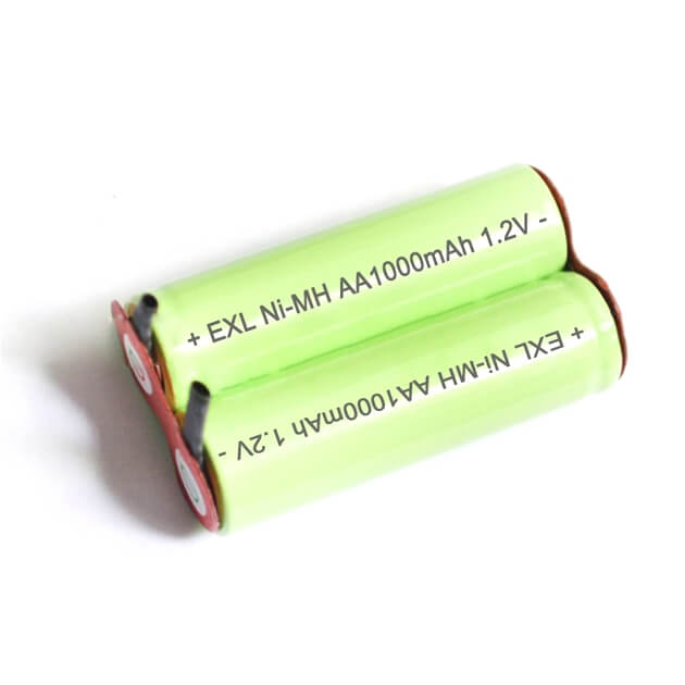 EXL Ni-MH 2.4v AA NiMH 1000mAh rechargeable battery pack for shaver