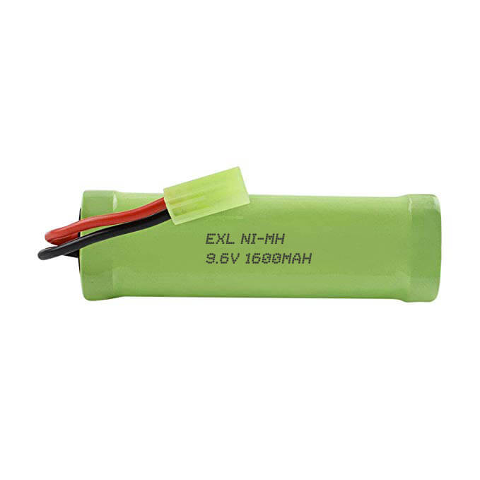 EXL Ni-MH 9.6v 23A NiMH 1600mAh rechargeable battery pack with Mini Tamiya for Airshot gun, RC cars
