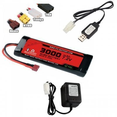 EXL Ni-MH 9.6v 2/3A NiMH 1600mAh rechargeable battery pack for Airshot gun, RC cars with Mini Tamiya 3